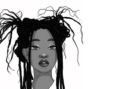 Willow portrait illustration portrait hair illustrator illustration character illustration character design characterdesign character