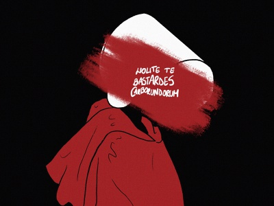 The Handmaid's Tale poster art poster illustration alternative poster poster art illustration