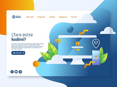 Landing Page Test 2 illustration ui design landing page design landing page design website design website concept website