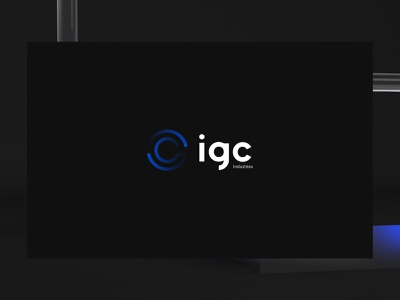 IGC   Branding preloader 3d experiments glass industry logotype brand identity branding