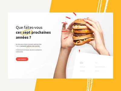 O'Malo Fast Food vendredi studio velluti hero food and drink restaurant fastfood burger