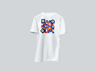 T-shirt Teewee qr-code qrcode pattern illustration