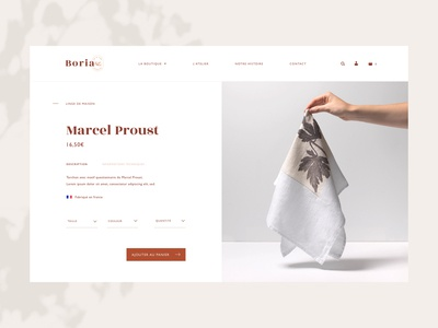 Boria • E-Shop - Product page