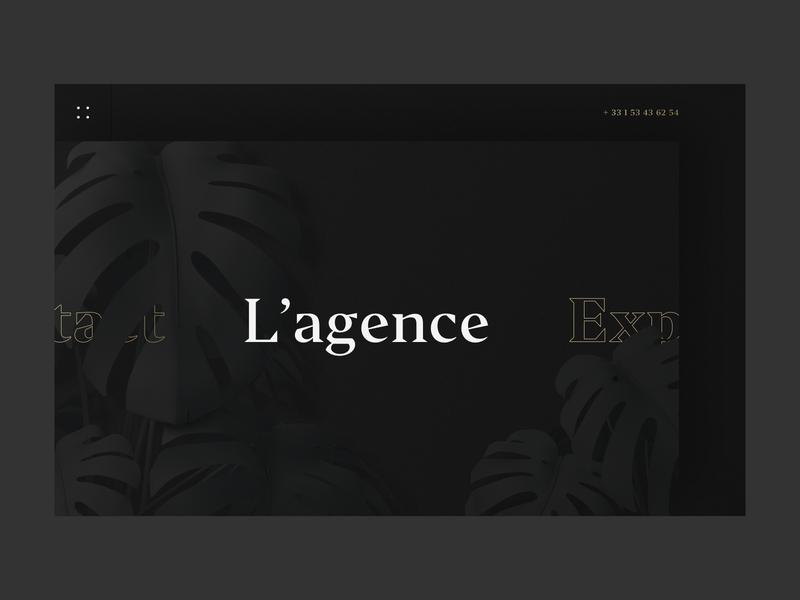 Jungle • Global Communication Agency monstera jungle plants minimalist menu typography portfolio site portfolio agency 3d illustration ux