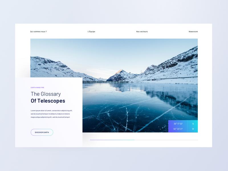 Newspace - Website winter ui earth space iot landscape minimalist