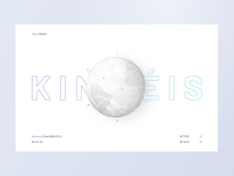 Kineis   earth constellation satellite iot earth newspace space 3d illustration minimalist