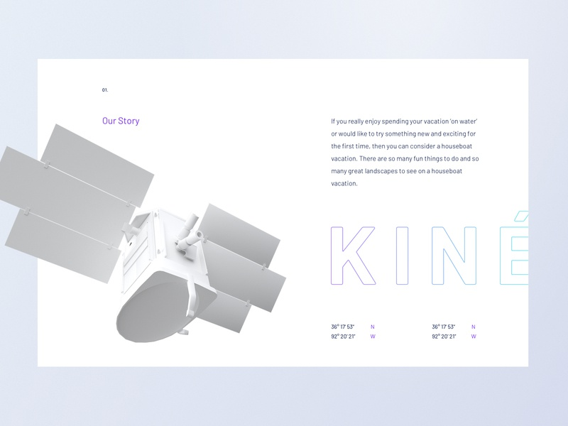 Kineis -  satellite velluti toulouse vendredi studio spaced minimalist illustration 3d typogaphy newspace space satellite