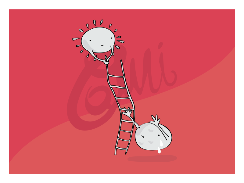 Hard meetings book design vector art vector design kids help 2d character illustrazione illustrator luna sole