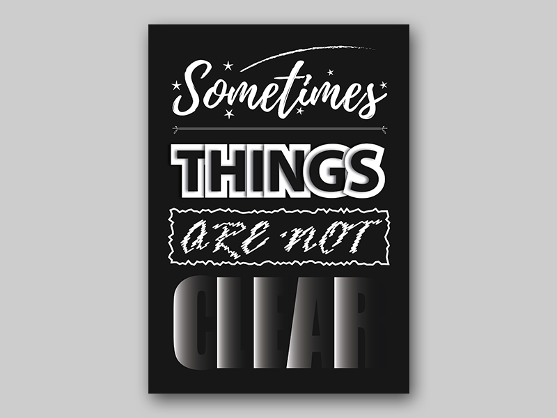 Typography Poster illustration typography graphic design vector graphics poster