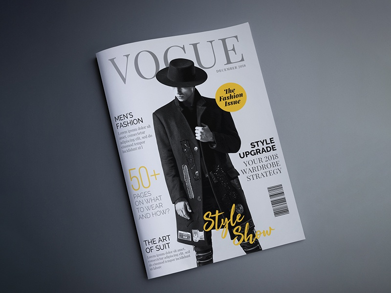 Magazine Cover Design For Fashion And Style Concept By Toheed Hussain On Dribbble