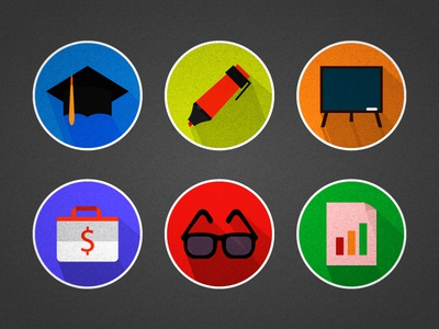 Flat icons for a web app