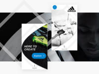 Adidas mobile landing - Reimagined