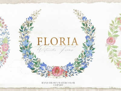 FREE 10 Floria Wreaths and Frames watercolor art wreath frames watercolor decor flower free design floral greenary flower illustration clipart set decorative illustration flowers floral  bouquet wedding invitation flower clipart