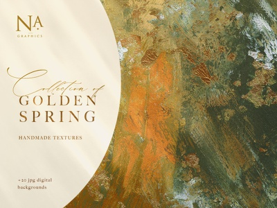 20 Golden Spring Acrylic Textures branding gold textures acrylic art backgrounds paper decorative texture background abstract illustration design