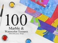 100 Marble Watercolor Backgrounds