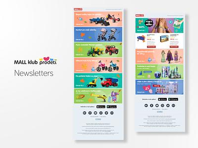 Mall klub Prodeti - Newsletter newsletter design design newsletter