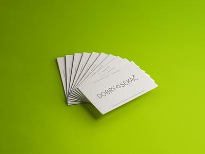 Dobrý Sekáč - Logo + Bussines cards card design logo design logodesign logos