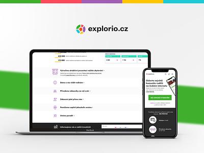 Explorio Microsite desktop design mobile design uxdesign uidesign uxui ux ui
