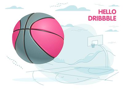 Hello Dribbble! vector design hello dribbble hellodribbble