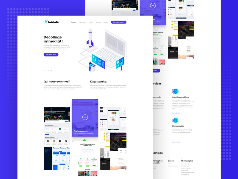 Home page agency homepage web icons ui isometric graphic illustration design