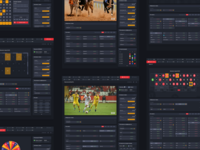 Sports betting UI