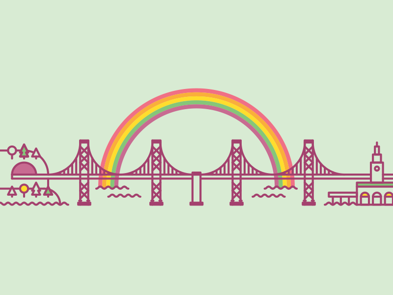 I saw a pretty rainbow over the Bay Bridge the other day. rainbow sf san francisco bridge bay bridge minty ferry building