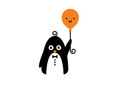 First date jitters flightless bird illustration bow tie nervous tuxedo balloon penguin