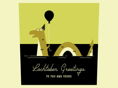 Happy Lochtober everyone! hat illustration party october balloon scotland loch ness monster lochtober