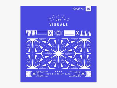 10x17 no. 10! starburst symmetry pattern kaleidoscope album art 10x17