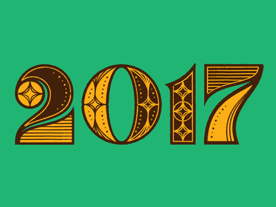 Smell ya later 2017! type new years illustration typography lettering 2018 new year 2017