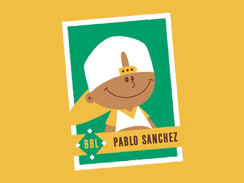 Pablo Sanchez Baseball Card Illustration Avatar Character Art Pablo Sanchez Baseball  Backyard Baseball
