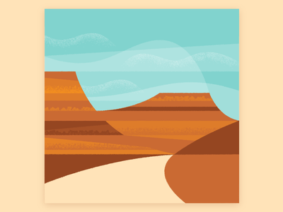 Utah! road trip illustration landscape zion arches bryce canyon national forest national parks utah