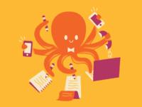 Multi-tasking octopus