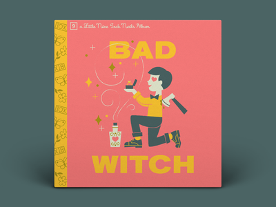 09. Nine Inch Nails — Bad Witch love wedding little golden books proposal ax potion spell witch nine inch nails album art illustration 10x18