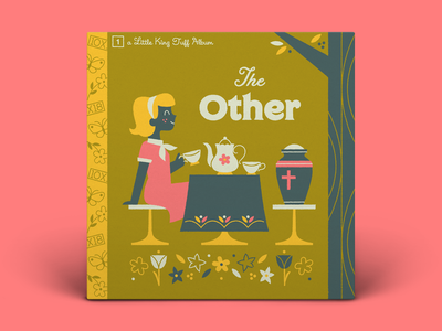 01! King Tuff — The Other tea pot character art table cloth typography album art illustration flowers tree garden tea party death urn 10x18