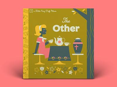 01! King Tuff — The Other tea pot character art table cloth typography album art illustration flowers tree garden tea party death urn 10x18