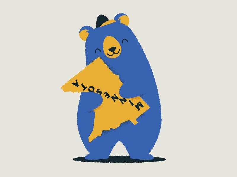 🐻 character art character upside down love illustration hug bear minneapolis minnesota