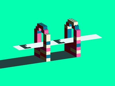 Legos isometric lego bridge 7daystocreate