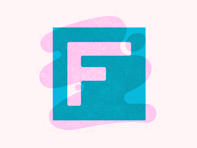 F freaking cool shapes organic lettering type typography letter f