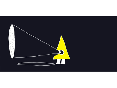 triangle man triangle man creepy texture character geometric triangle animation