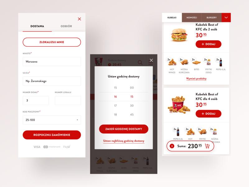 KFC Mobile food kfc product ecommerce mobile app ux ui