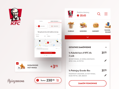 KFC on Behance kfc product ecommerce mobile ux ui