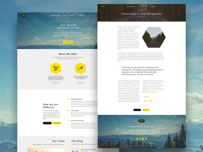 BBD Design wordpress design designer mountain canada web design typography blog type photography forest rustic