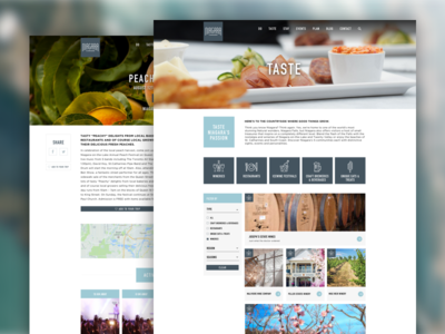 Visit Niagara Custom WordPress Design ux ui filter design food icon design iconography typography web design design wordpress blog canada
