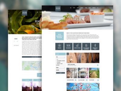 Visit Niagara Custom WordPress Design ux ui filter design food icon design iconography typography web design design wordpress blog canada