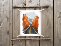 Road to Autumn Print ottawa fall autumn graphic design design digital artist digital art painting download print shop