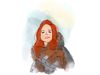 Ygritte the wildling ❄️ digital art drawing wildling game of thrones illustrator ygritte got illustration