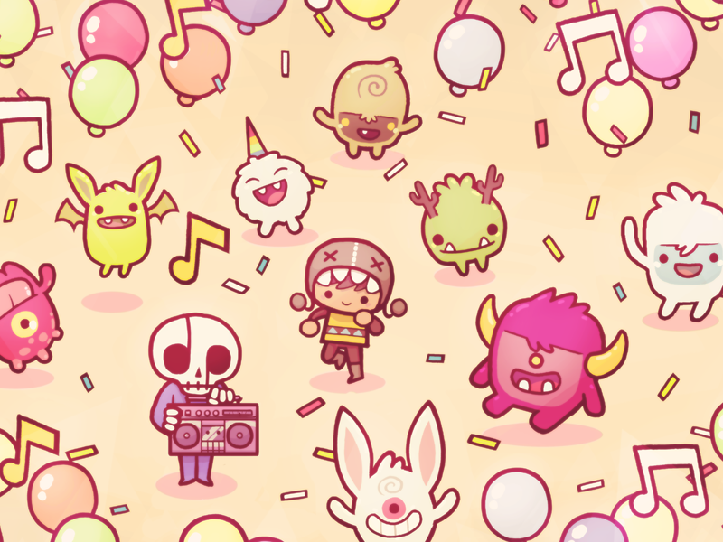 Monsters Ate My Birthday Cake Soundtrack By Dom2d Dribbble