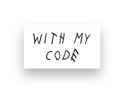 With my code sticker