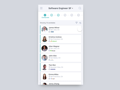 Talent Sourcing Tool - Mobile